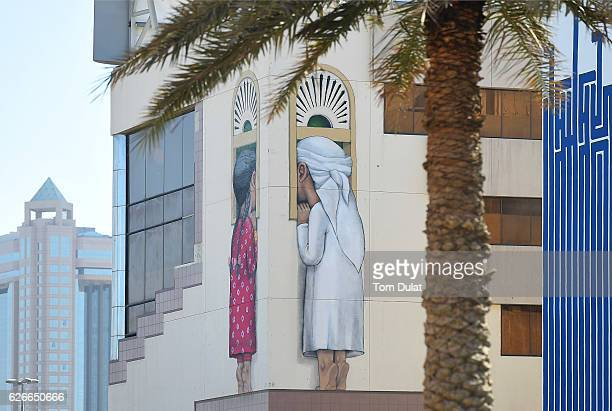 Street art appears around the city on November 30 2016 in Dubai United Arab Emirates
