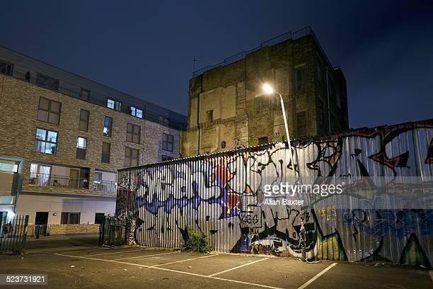 Street art at night in Brisk Lane