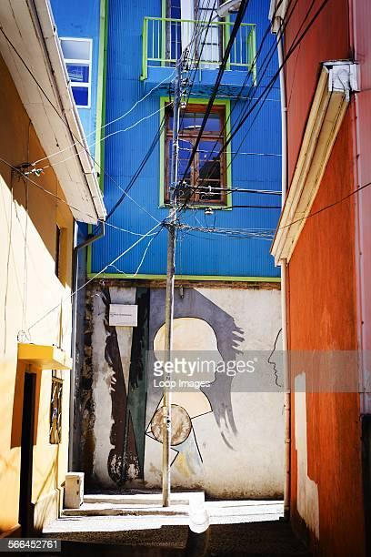 Street Art by Ricardo Yrarrazaval in the Open Air Museum at Valparaiso