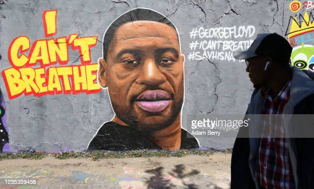 May 30: Street art commemorating George Floyd, killed in police custody in Minneapolis after footage emerged of him pleading for air as a police...