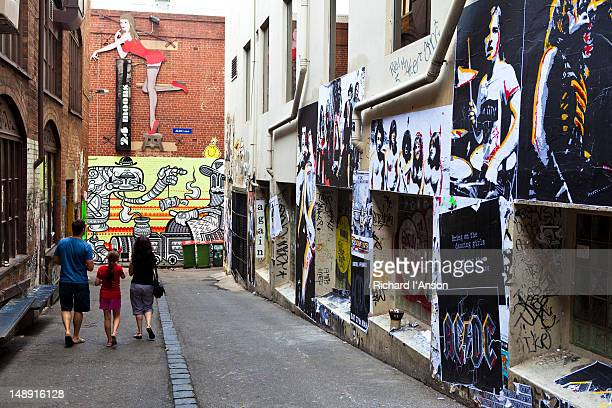 Street art graffiti in ACDC Lane.