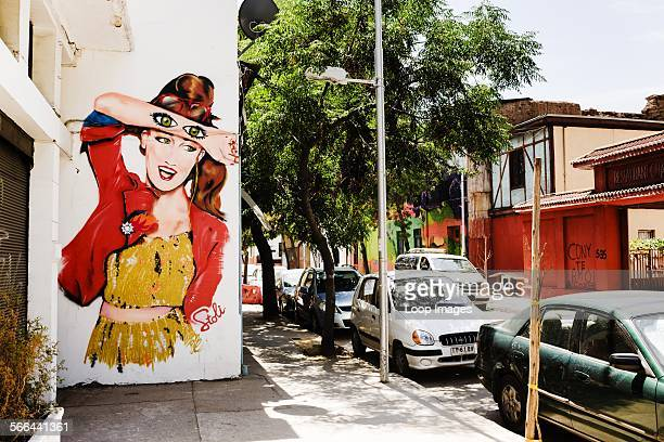 Street art in Barrio Providencia in Santiago