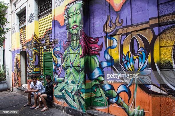 Street art in Rio de Janeiro, Brasilien