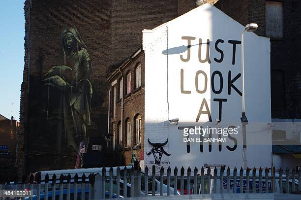 Street art in Shoreditch just look at this