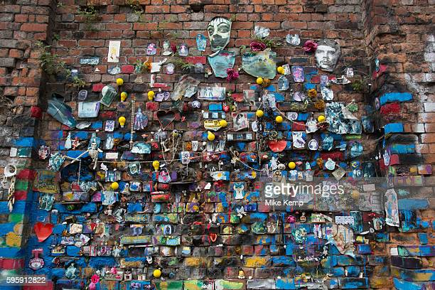Street art in the Brick Lane area of Shoreditch East London United Kingdom Street art in the East End of London is an ever changing visual enigma as...