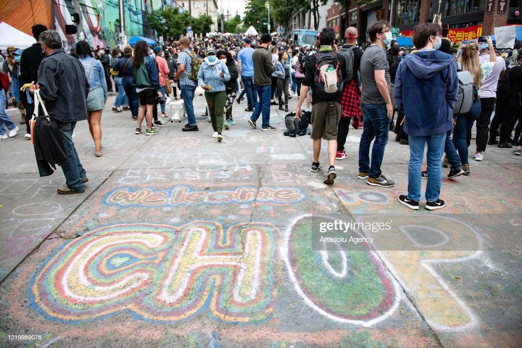 Capitol Hill Autonomous Zone protests in Seattle : ニュース写真