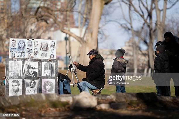L'artiste de rue à Central Park