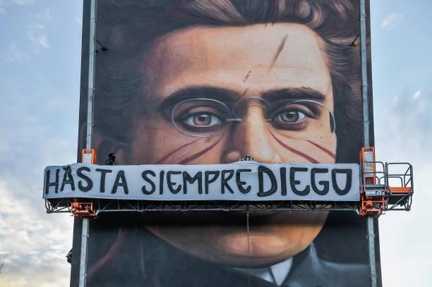 ITA: Artist Jorit Pays Tribute To Diego Armando Maradona