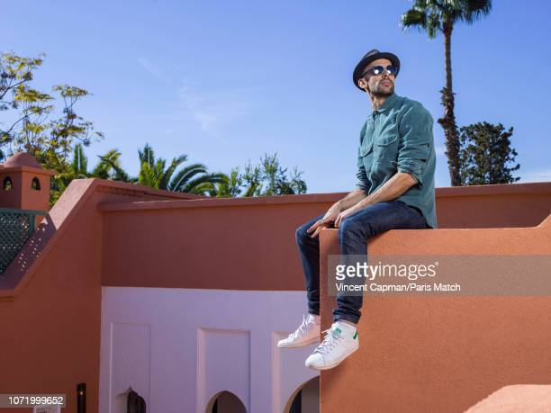 Street artist JR is photographed at the 17th International Film Festival of Marrakech for Paris Match on December 2 2018