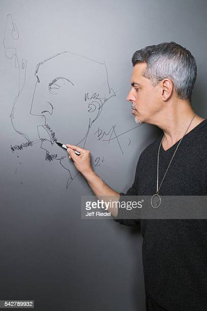 Street artist Justin BUA is photographed for TV Guide Magazine on January 15 2015 in Pasadena California