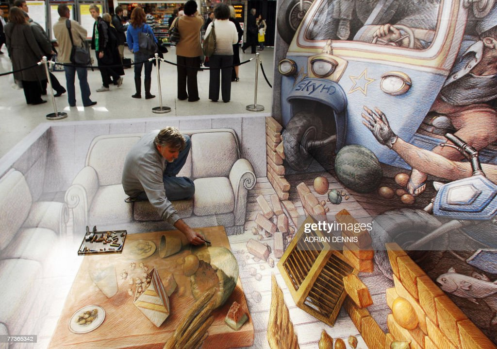 US Street Artist Kurt Wenner Works On Hi Pictures Getty Images - 17 amazing works of 3d street art