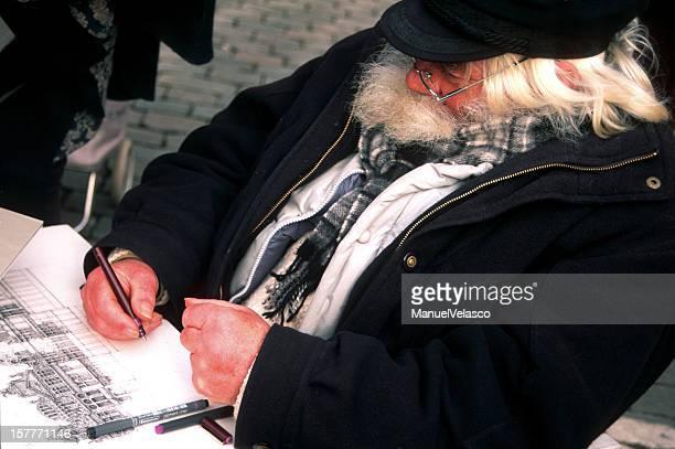 L'artiste de rue de Bruxelles