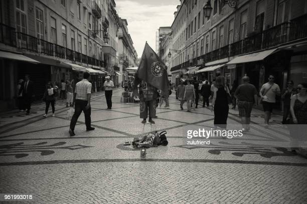 street artisti in lisbon - traditionally portuguese stock pictures, royalty-free photos & images