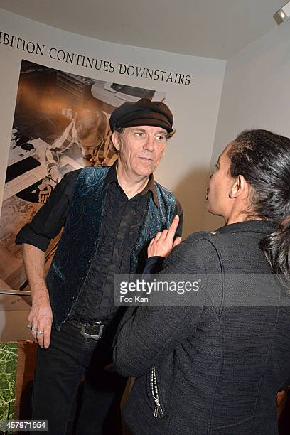 Street artist/painter Jeff Aerosol attends the 'Skin Fais Moi Ma Peau' Against Women Breast Cancer Auction Exhibition Preview At the Galerie...