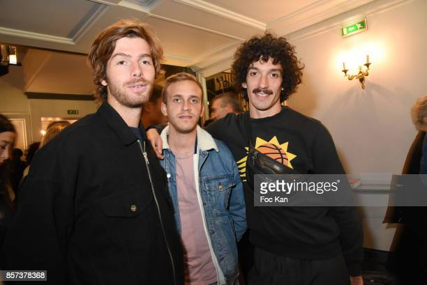 Street artists Pierre Gilles Romain from Calmos band attend the Agnes B Show as part of the Paris Fashion Week Womenswear Spring/Summer 2018 on...