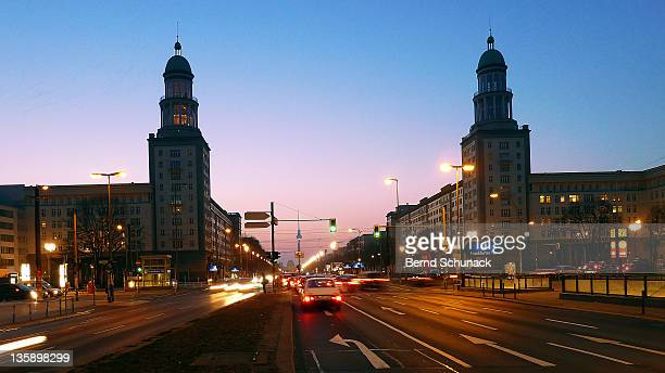 street at dusk - bernd schunack stock photos and pictures