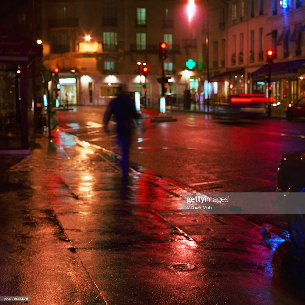 Street at night. : Stockfoto