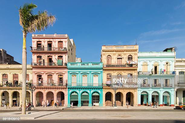 street at old havana, cuba. - old havana stock pictures, royalty-free photos & images