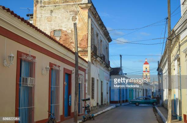 street at remedios, santa clara, cuba - radicella stock pictures, royalty-free photos & images