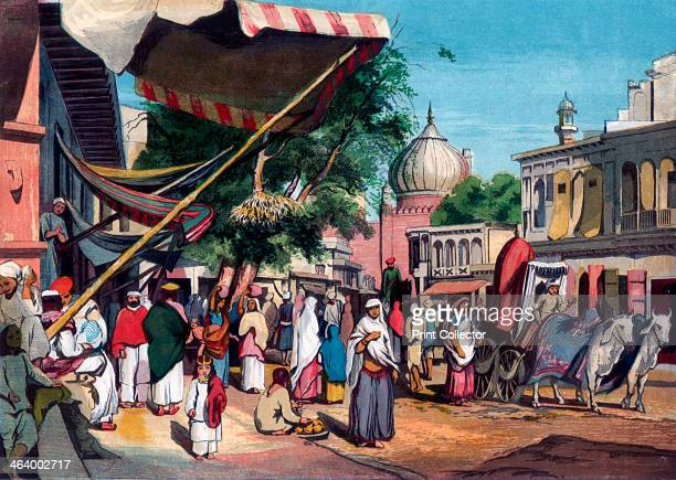 A street at the back of Jumma Musjid Delhi 1857 From The Illustrated London News