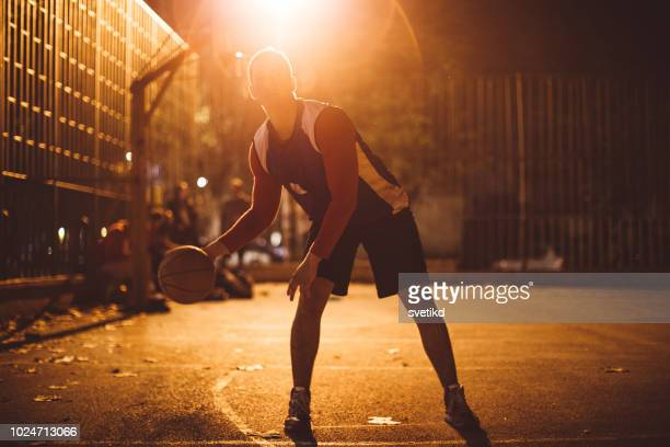 street ball players - one man only stock pictures, royalty-free photos & images