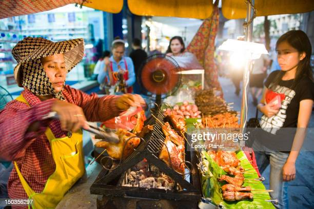 Street barbeque stall, Th Sukhumvit.