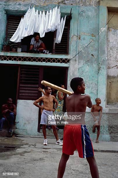 Street Baseball Game in Havana