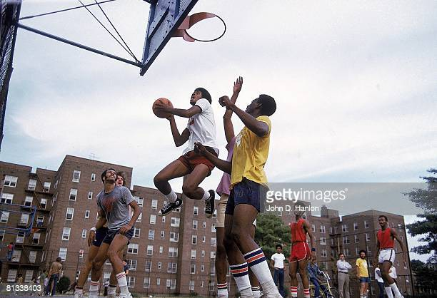 Street Basketball Austin Peau University Fly Williams during playground action at Foster Park Brooklyn NY 8/14/19738/23/1973