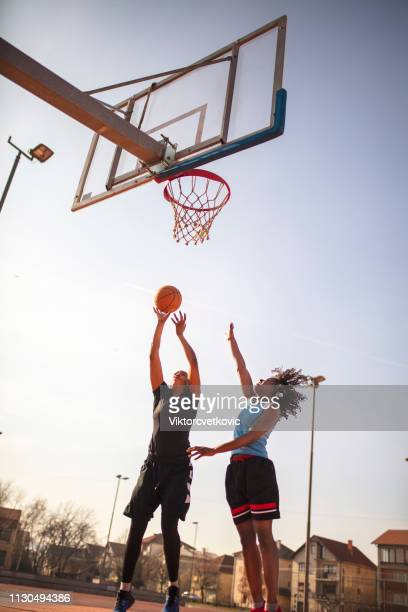 street basketball - women's basketball stock pictures, royalty-free photos & images