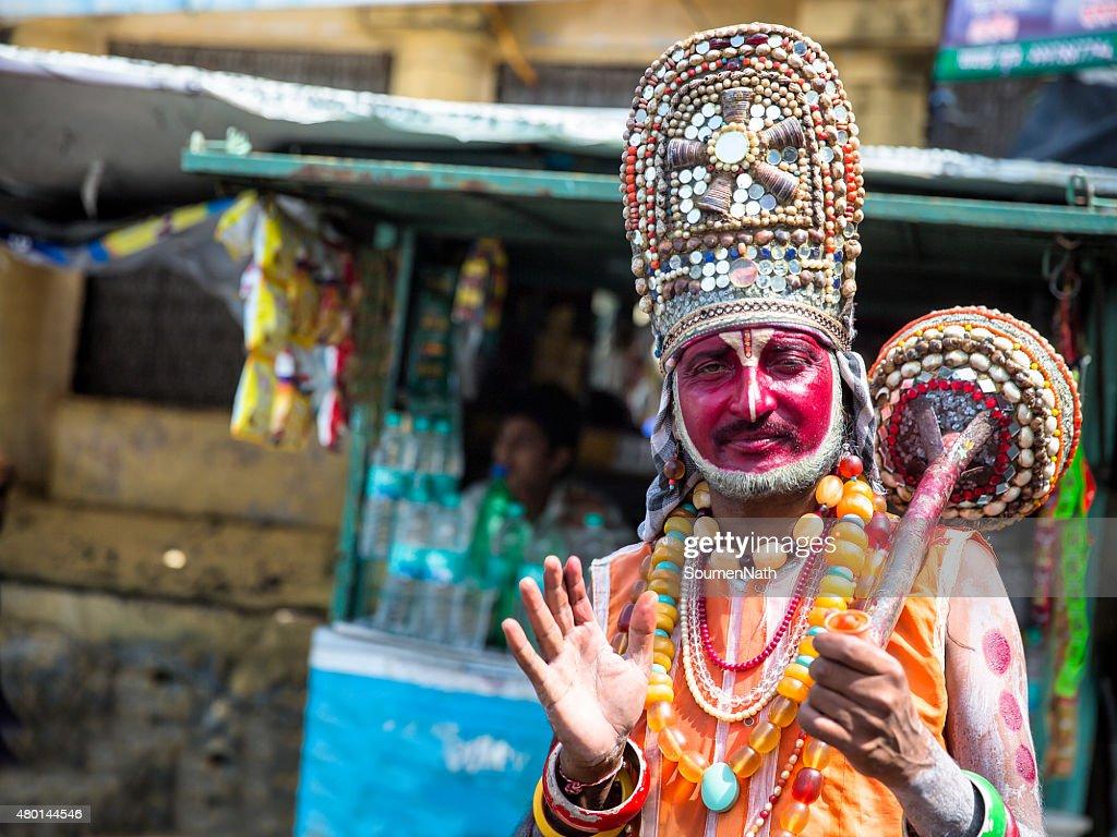 Street Beggar Dressed As Lord Hanuman In Rishikeshindia