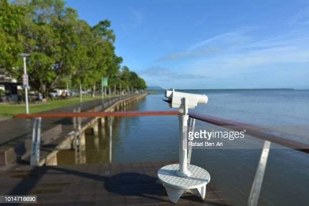 Street Binoculars on Cairns Esplanade Queensland Australia