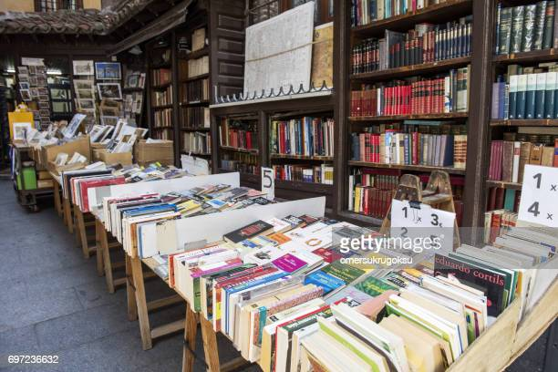 street bookstore in madrid, spain - book store stock photos and pictures