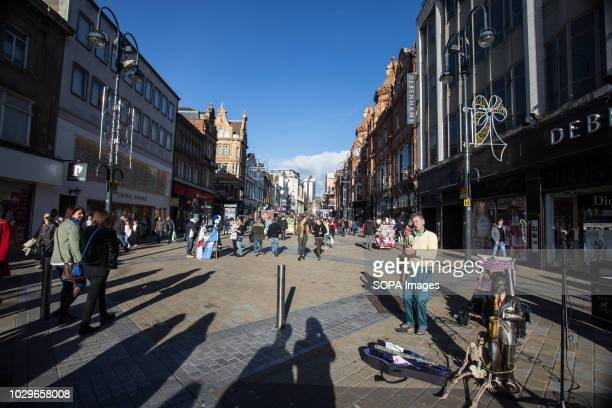 A street busker seen in Leeds Leeds is the largest city in the northern English county of Yorkshire