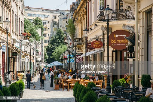 Bucharest Town Editorial Image Image Of Bucharest: Street Cafes In Bucharest Old Town High-Res Stock Photo