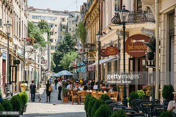 Street cafes in Bucharest old town