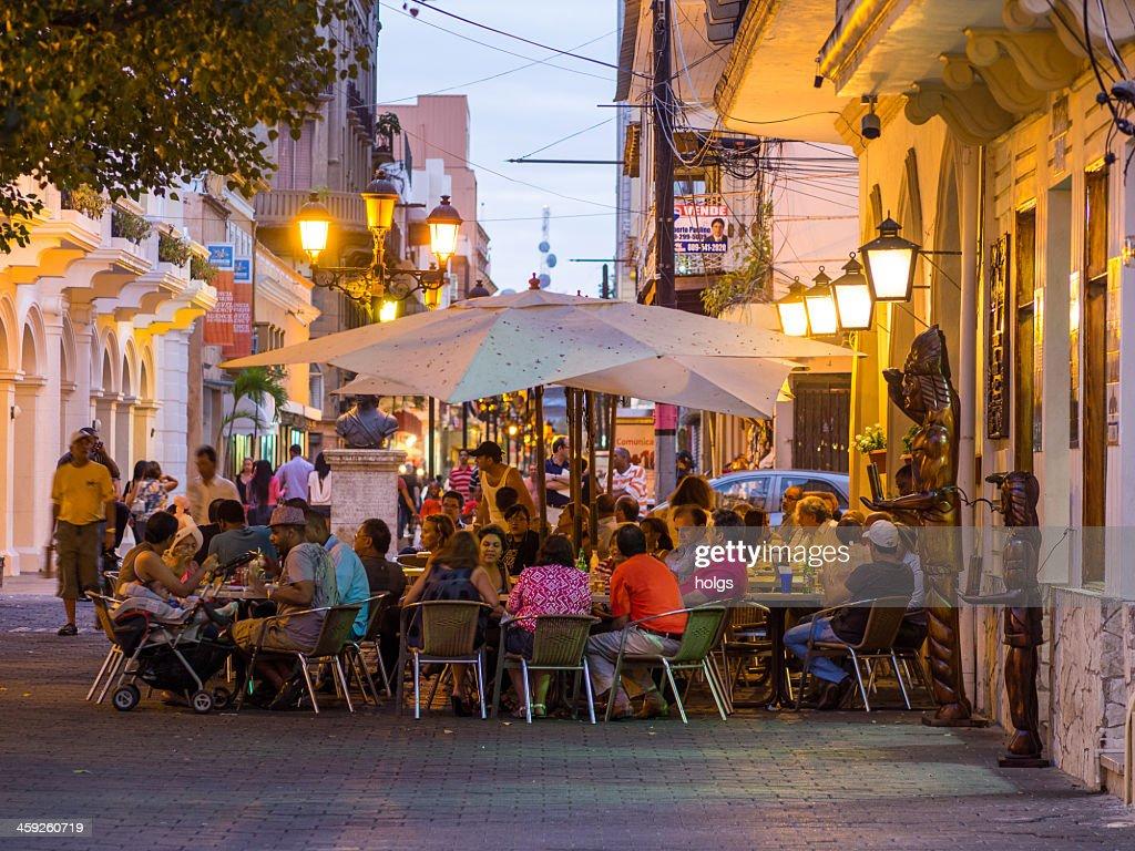 Street cafes Santo Domingo, Dominican Republic : Stock Photo