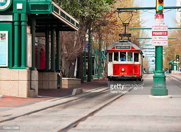 street car in memphis - memphis tennessee stock pictures, royalty-free photos & images