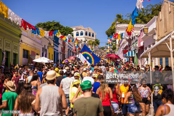 street carnival in olinda city - brazilian carnival stock pictures, royalty-free photos & images