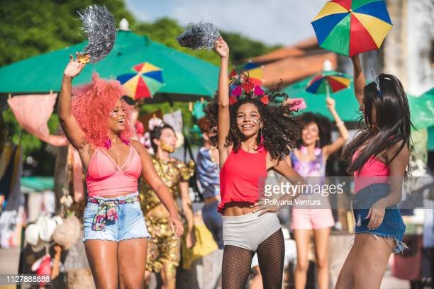street carnival in olinda, pernambuco state, brazil - brazilian carnival stock pictures, royalty-free photos & images