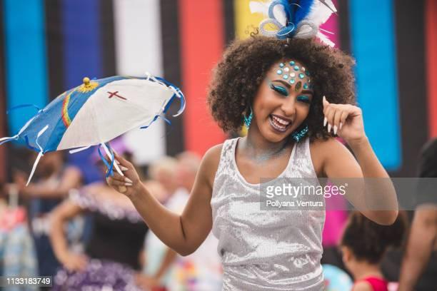 street carnival in recife, pernambuco, brazil - frevo imagens e fotografias de stock