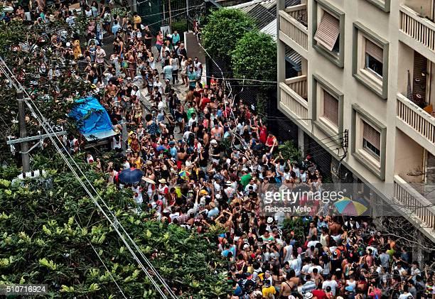 Street carnival in São Paulo, Brazil, on Monday