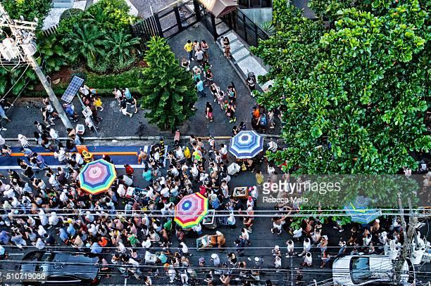 Street carnival in São Paulo, Brazil, on Tuesday