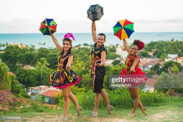 street carnival in the city of olinda, pernambuco - frevo imagens e fotografias de stock