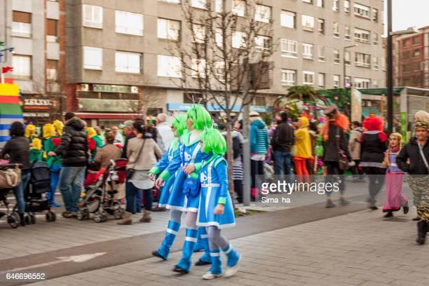 ビトリア ・ ガステイスのストリート カーニバル。スペイン - ビトリア=ガステイス ストックフォトと画像