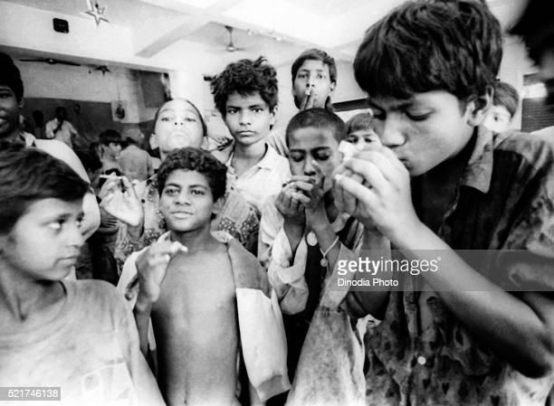 Street children at don bosco shelter, Matunga, Bombay Mumbai, Maharashtra, India