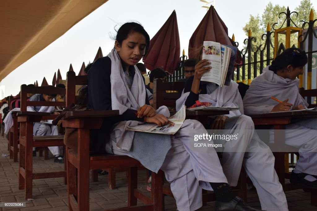 Street children seen doing their school work at the FootPath... : News Photo