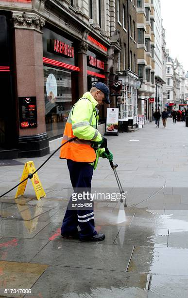 Street cleaner in London