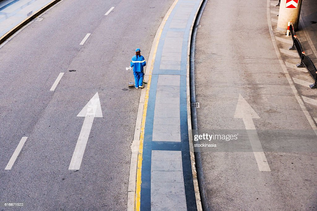 Street cleaner : Stock Photo