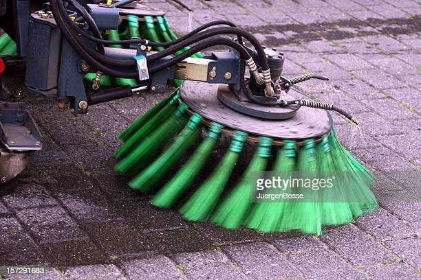 street cleaning - street sweeper stock pictures, royalty-free photos & images