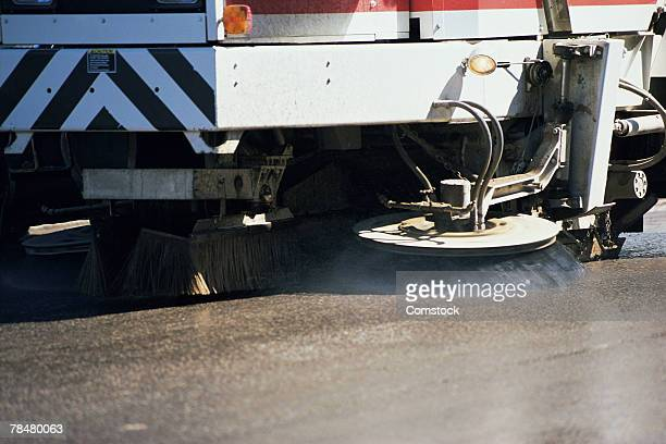 street cleaning truck - street sweeper stock pictures, royalty-free photos & images